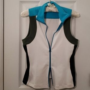 Bebe Sport Vest Zip Up Sleeveless Tank Top
